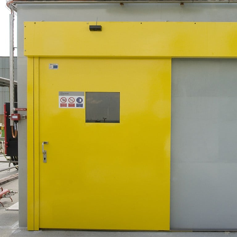 Fire rated fire door