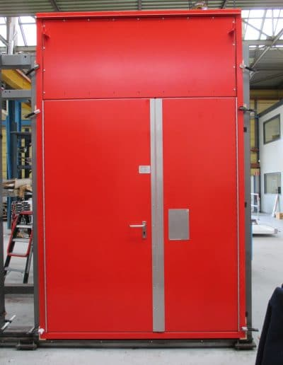 H60 double hinged fire rated door with toppanel